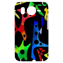 Colorful abstract pattern HTC Desire HD Hardshell Case