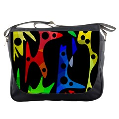 Colorful abstract pattern Messenger Bags