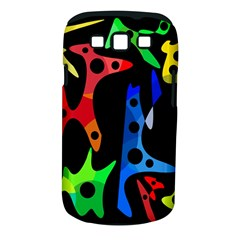 Colorful abstract pattern Samsung Galaxy S III Classic Hardshell Case (PC+Silicone)