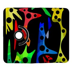 Colorful abstract pattern Samsung Galaxy Note II Flip 360 Case