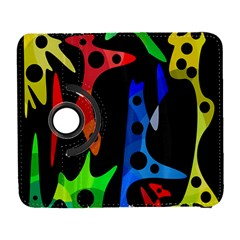 Colorful abstract pattern Samsung Galaxy S  III Flip 360 Case