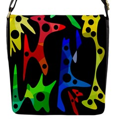 Colorful abstract pattern Flap Messenger Bag (S)