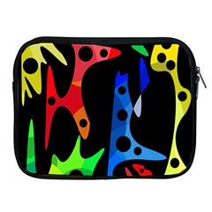 Colorful abstract pattern Apple iPad 2/3/4 Zipper Cases