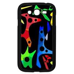 Colorful abstract pattern Samsung Galaxy Grand DUOS I9082 Case (Black)