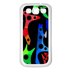 Colorful abstract pattern Samsung Galaxy S3 Back Case (White)