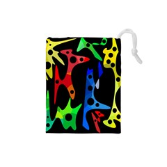 Colorful abstract pattern Drawstring Pouches (Small)