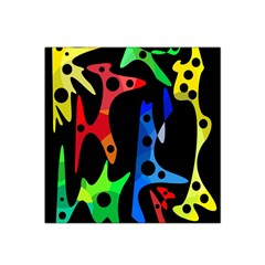 Colorful abstract pattern Satin Bandana Scarf