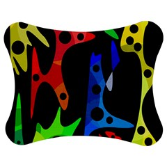 Colorful abstract pattern Jigsaw Puzzle Photo Stand (Bow)