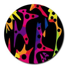 Colorful pattern Round Mousepads