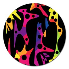 Colorful pattern Magnet 5  (Round)