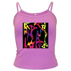 Colorful pattern Dark Spaghetti Tank