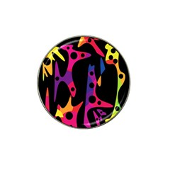 Colorful pattern Hat Clip Ball Marker (4 pack)