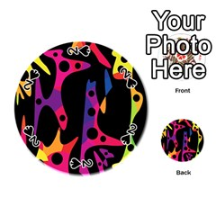 Colorful pattern Playing Cards 54 (Round)