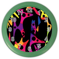 Colorful pattern Color Wall Clocks
