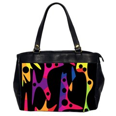 Colorful pattern Office Handbags (2 Sides)