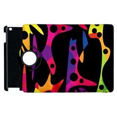 Colorful pattern Apple iPad 2 Flip 360 Case