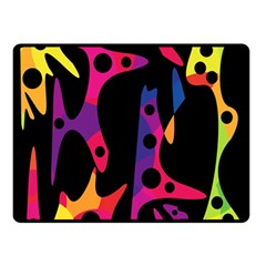 Colorful pattern Double Sided Fleece Blanket (Small)