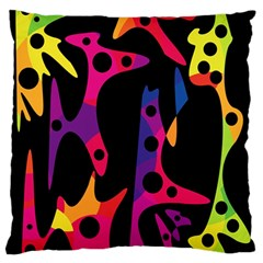 Colorful pattern Large Flano Cushion Case (One Side)