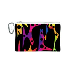 Colorful pattern Canvas Cosmetic Bag (S)