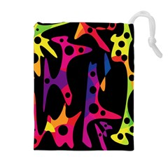 Colorful pattern Drawstring Pouches (Extra Large)