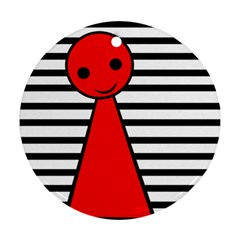 Red pawn Ornament (Round)