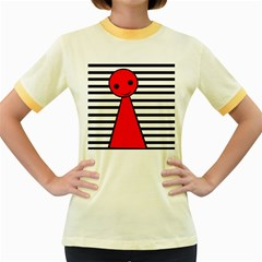 Red pawn Women s Fitted Ringer T-Shirts