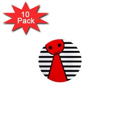 Red pawn 1  Mini Magnet (10 pack)