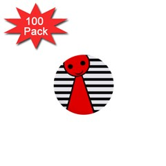 Red pawn 1  Mini Buttons (100 pack)