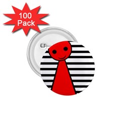 Red pawn 1.75  Buttons (100 pack)