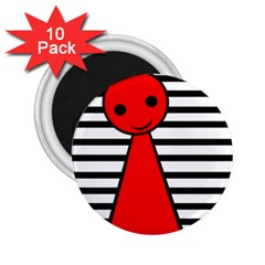 Red pawn 2.25  Magnets (10 pack)