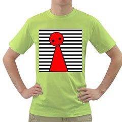 Red pawn Green T-Shirt