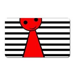 Red pawn Magnet (Rectangular)
