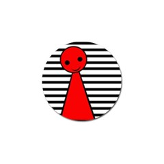 Red pawn Golf Ball Marker (4 pack)