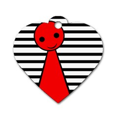 Red pawn Dog Tag Heart (One Side)