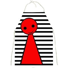 Red pawn Full Print Aprons