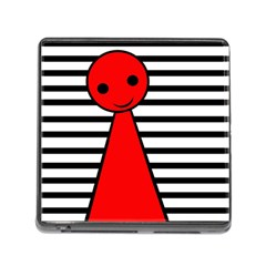 Red pawn Memory Card Reader (Square)