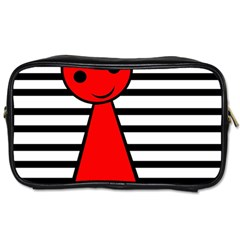 Red pawn Toiletries Bags 2-Side