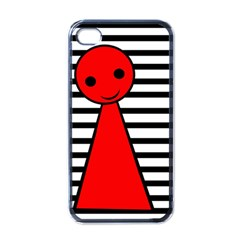 Red pawn Apple iPhone 4 Case (Black)