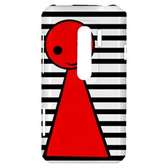 Red pawn HTC Evo 3D Hardshell Case
