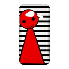 Red pawn HTC Droid Incredible 4G LTE Hardshell Case