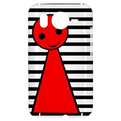 Red pawn HTC Desire HD Hardshell Case