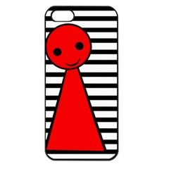 Red pawn Apple iPhone 5 Seamless Case (Black)