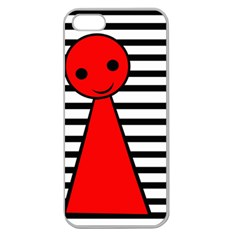Red pawn Apple Seamless iPhone 5 Case (Clear)