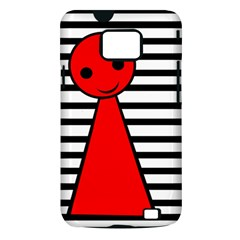 Red pawn Samsung Galaxy S II i9100 Hardshell Case (PC+Silicone)