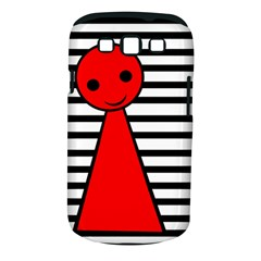 Red pawn Samsung Galaxy S III Classic Hardshell Case (PC+Silicone)