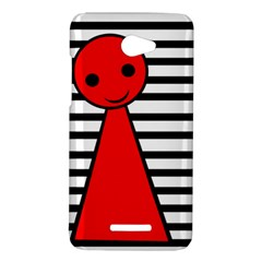 Red pawn HTC Butterfly X920E Hardshell Case