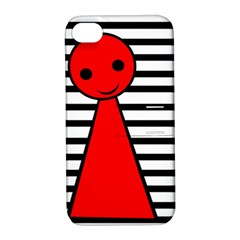 Red pawn Apple iPhone 4/4S Hardshell Case with Stand