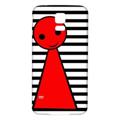 Red pawn Samsung Galaxy S5 Back Case (White)