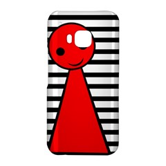 Red pawn HTC One M9 Hardshell Case