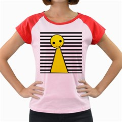 Yellow pawn Women s Cap Sleeve T-Shirt